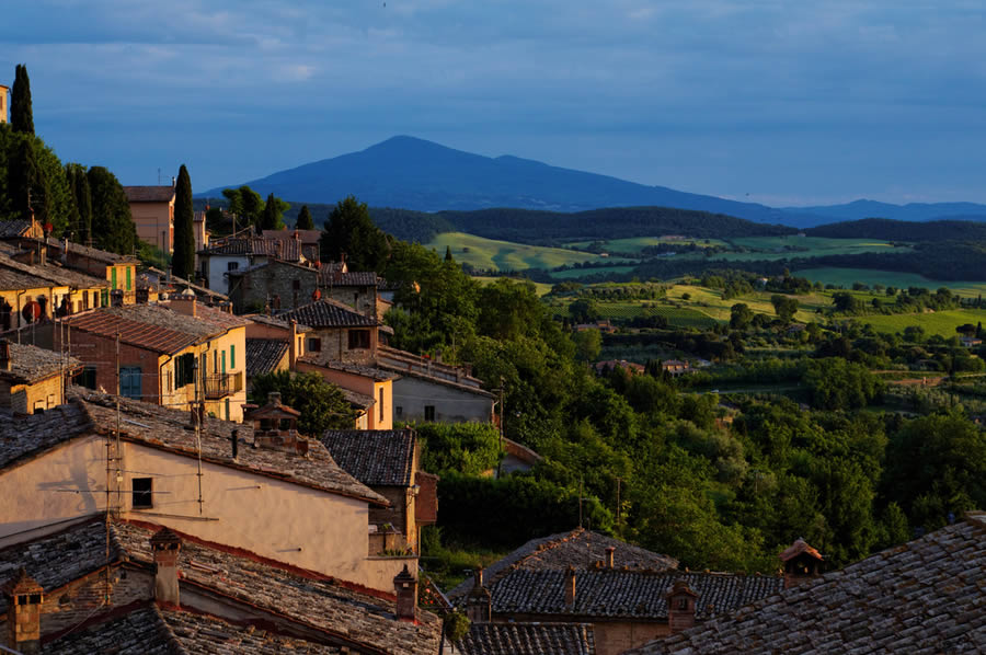 Montepulciano at Sunset