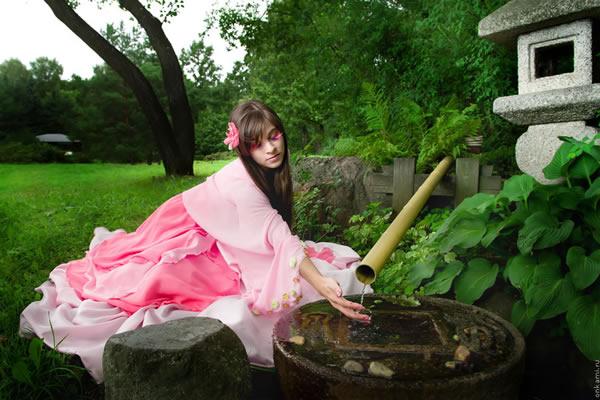 Yuna Kairi in Japanese Garden