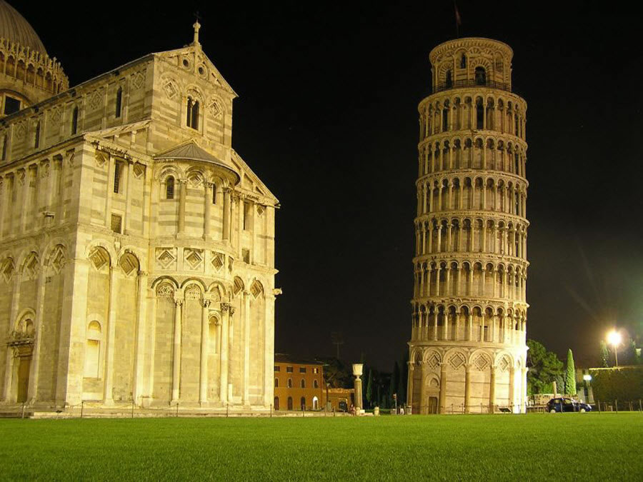 Pisa Tower at Night