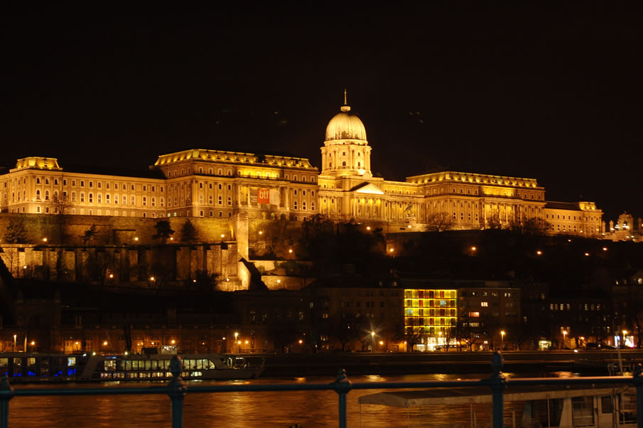 Budapest Buda Castle at Night
