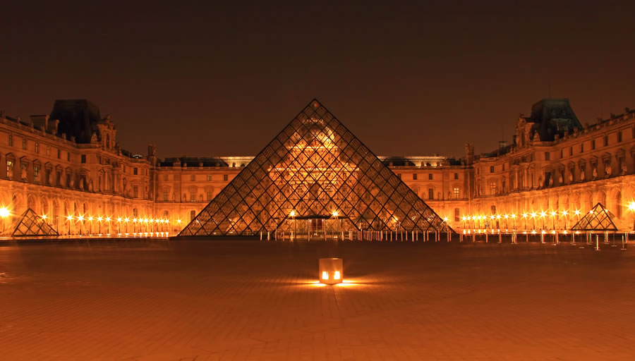Paris, the Louvre Pyramid