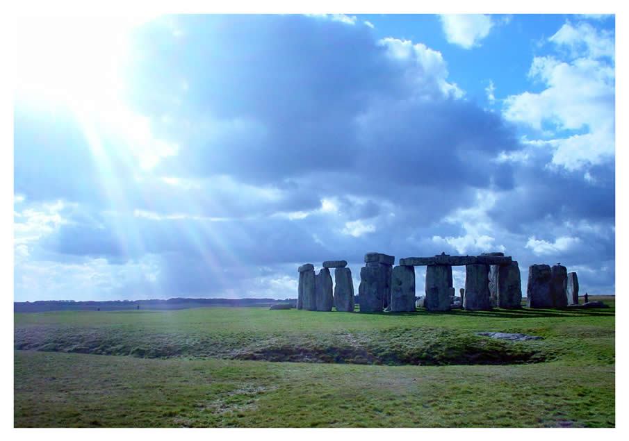 Stonehenge in the English county of Wiltshire