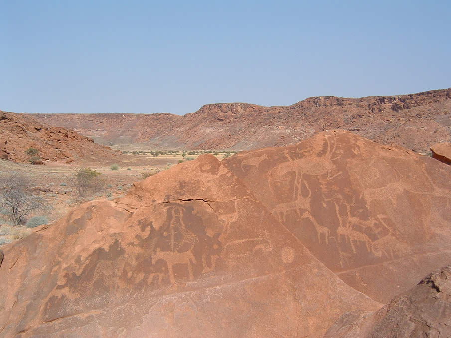 Twyfelfontein in Namibia