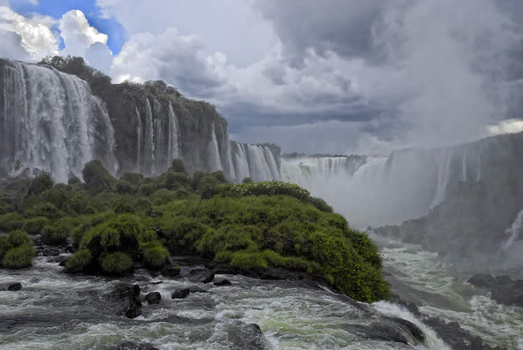 Iguazu Falls on the border of Brazil and Argentina