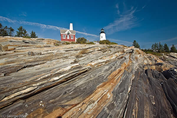 Low Angle View of the Pemaquid Lighthouse