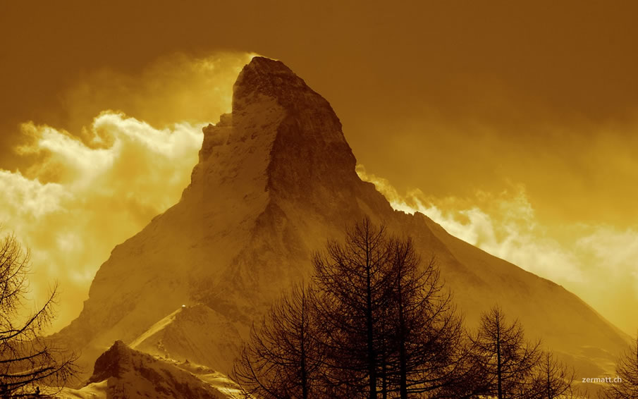 Backlit Mountain