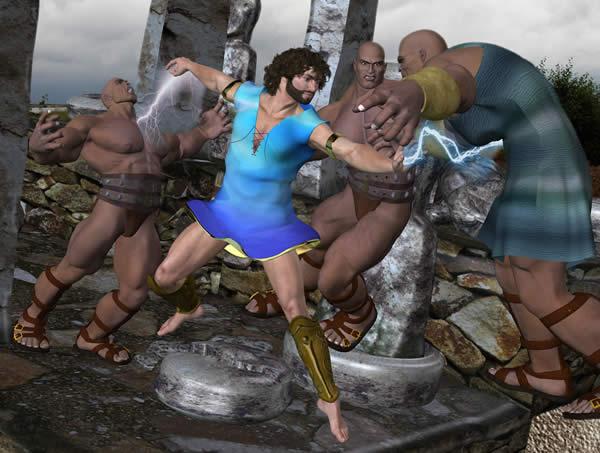 Zeus Fights the Titans