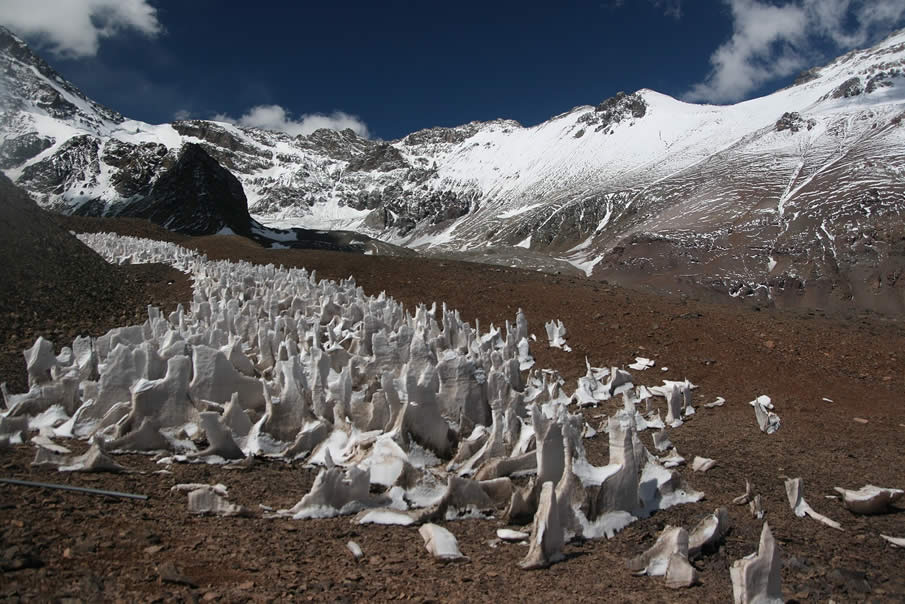 Penitentes - Ice Spikes in Argentina