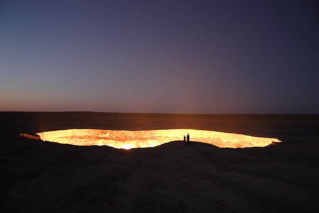 Flaming Crater, Darvaza Turkmenistan