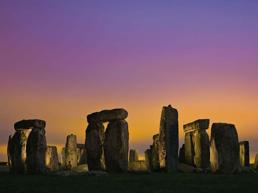 Stonehenge at Twilight, England