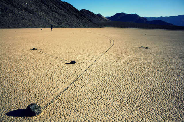 Sailing Stones - Death Valley