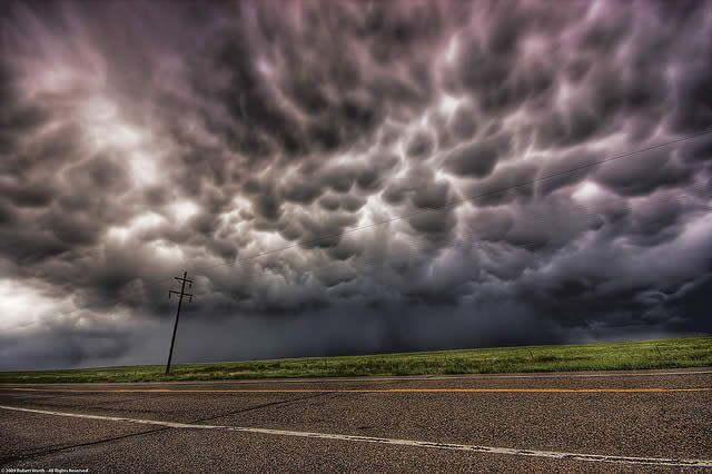 Mammatus Clouds - Between Limon and Colorado