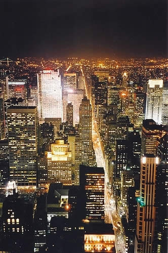 Manhattan at night, New York