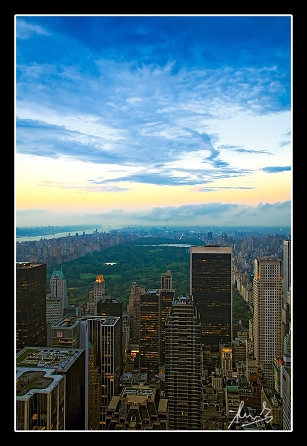 Central Park and Beyond from Rockefeller New York