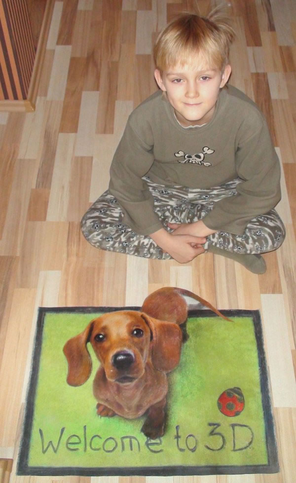 Son and 3D Dog 2
