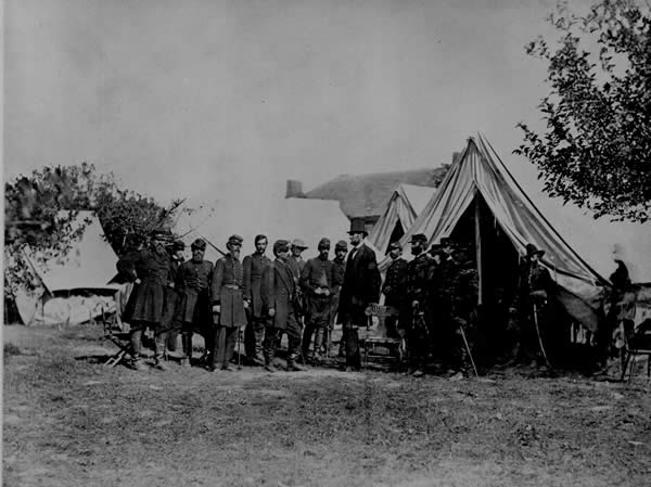 President Lincoln Visiting the Battlefield at Antietam
