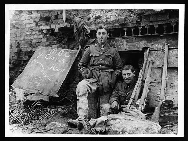 Outside Captured German Dugout