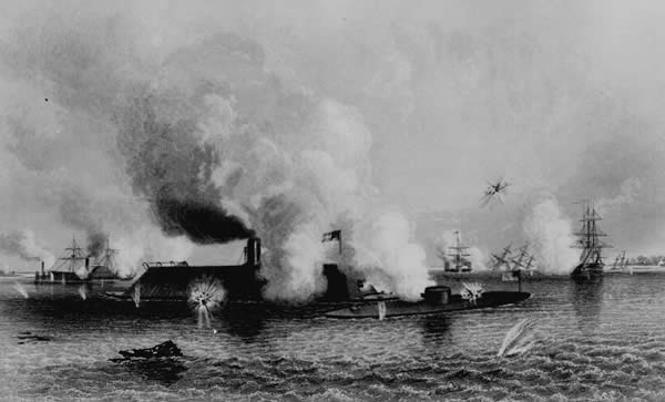 Battle between the C.S.S. Virginia and the U.S.S. Monitor, Hampton Roads