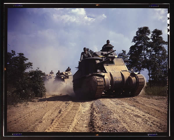 M-3 Tanks in Action