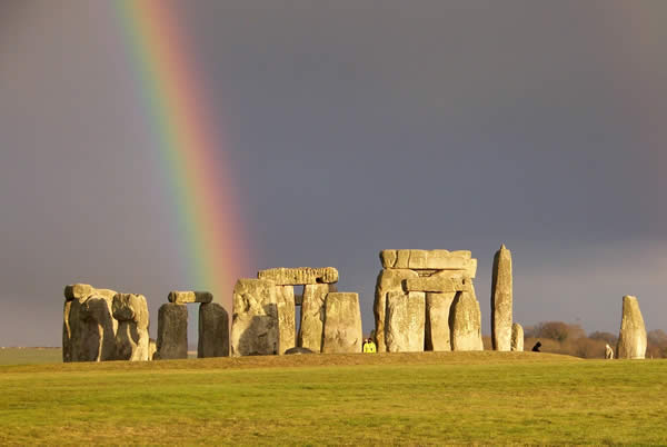 Rainbow at Stonehenge