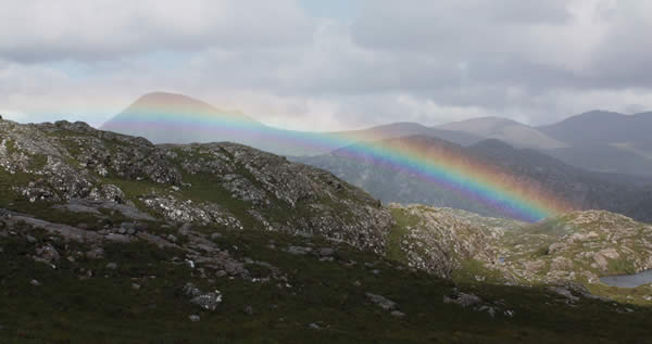 Rainbow at the head of Gleann Gharbh