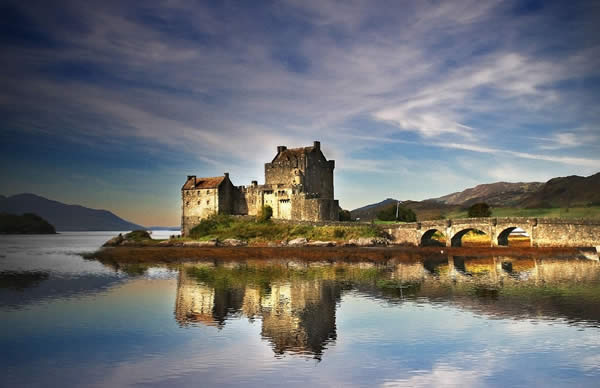 Reflections of Eilean Donan Castle