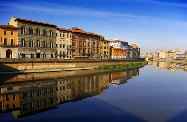 River Reflections - Pisa