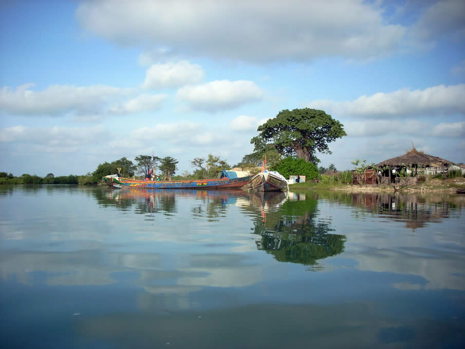 Kartong River in Gambia