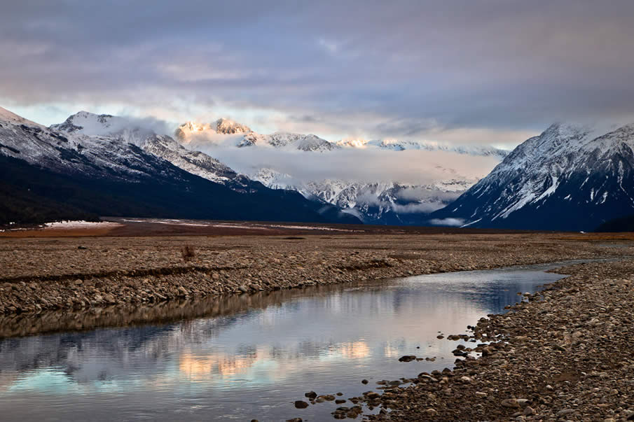 Waimakariri river in New Zealand