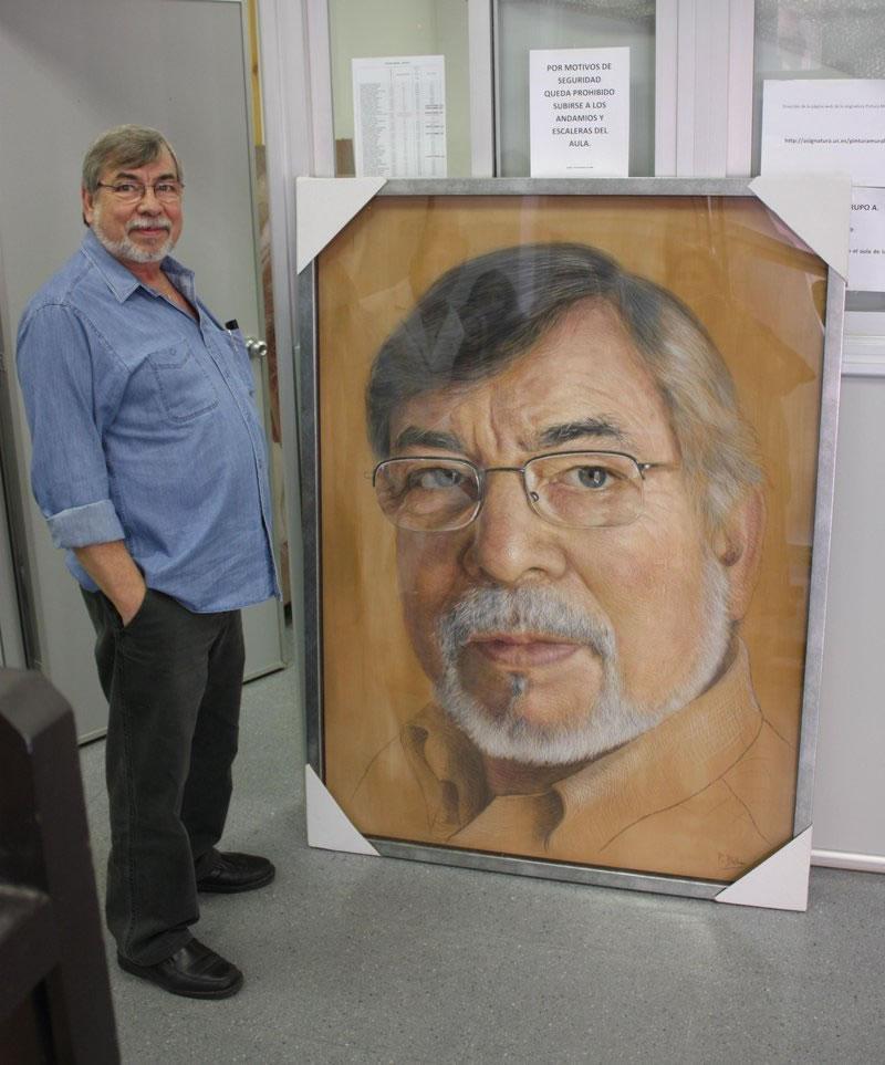 A. Zambrana and His Portrait