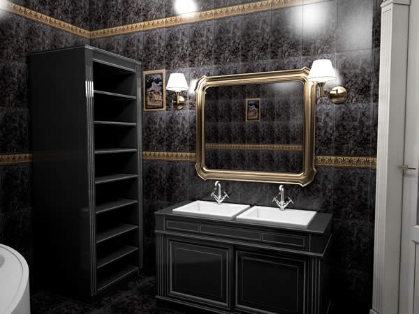 3D Vis 1 Bathroom Black