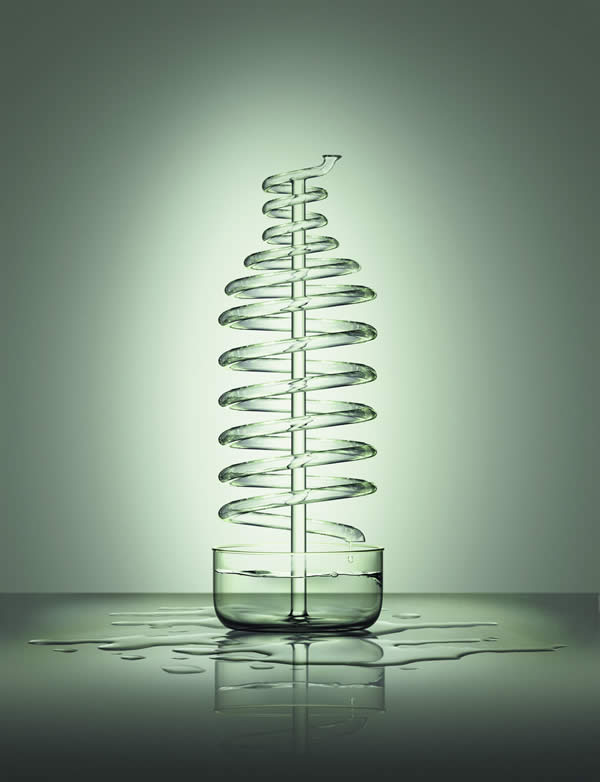 Botella Espiral alta