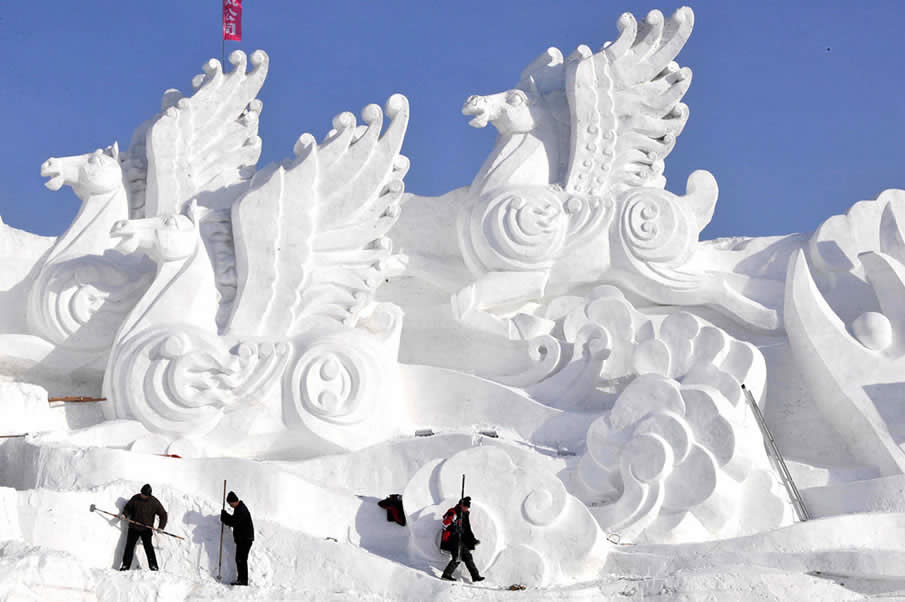 Snow Festival in Harbin, China