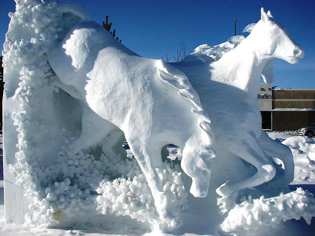Snow Sculpture, Yukon