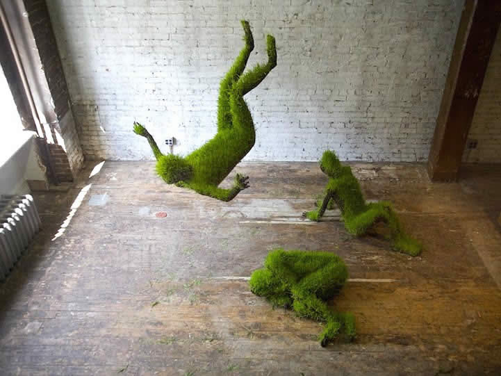 Growing Grass Sculpture