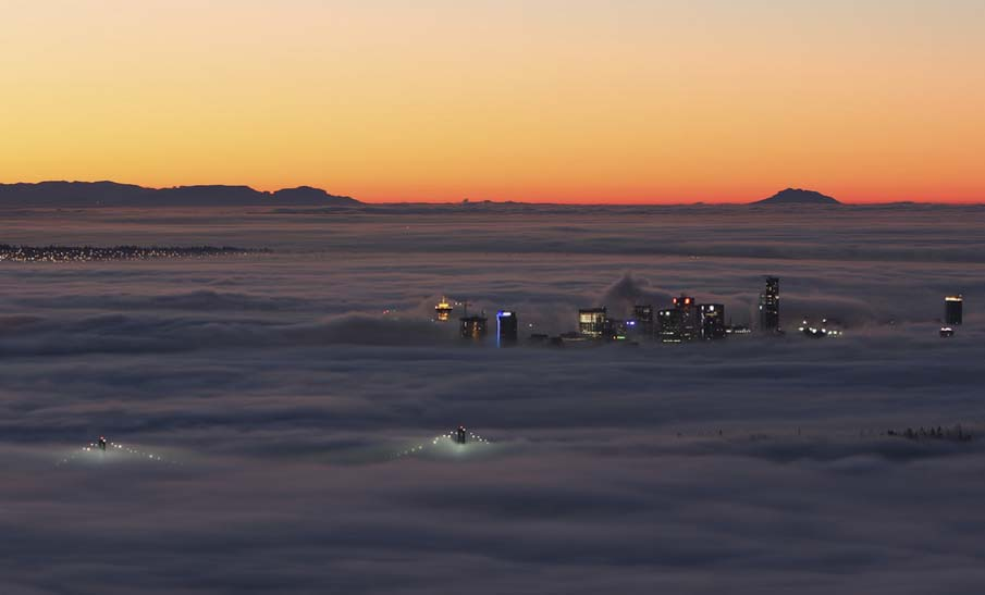 Vancouver in the Fog @ Sunrise