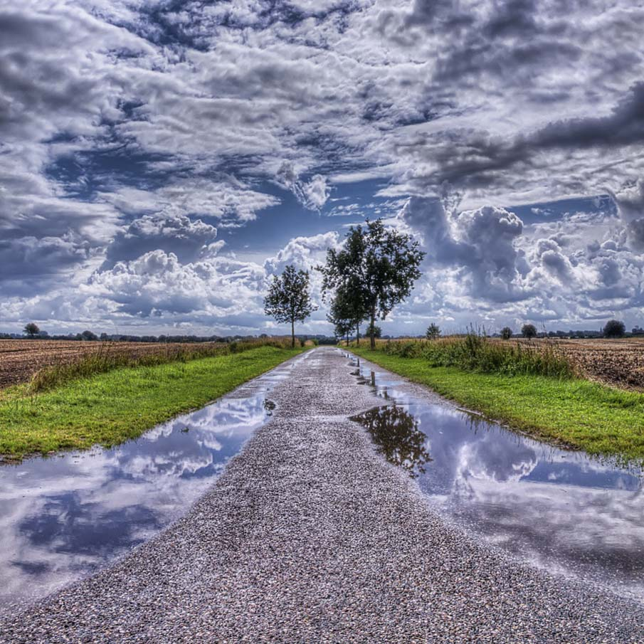 Side Road in Denmark - HDR