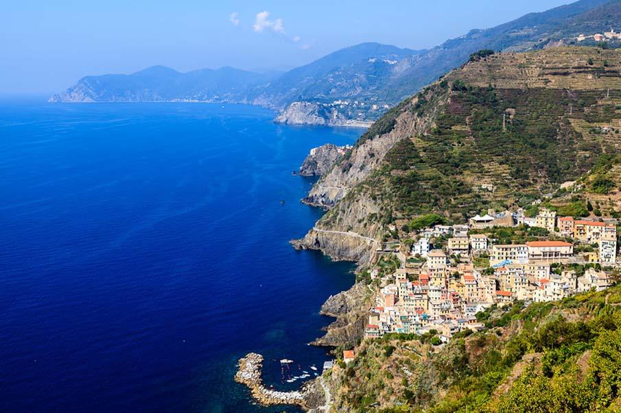 Aerial View of Riomaggiore