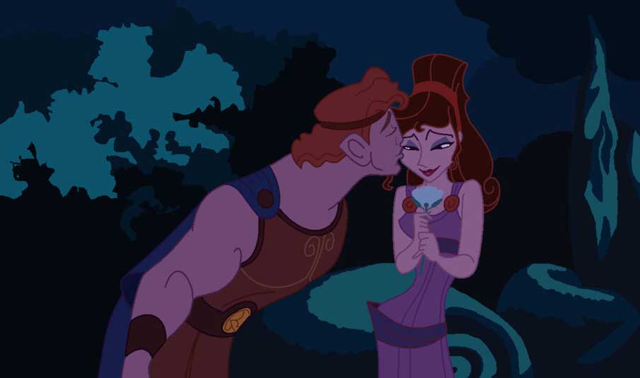 Hercules and Meg - Flower Kiss