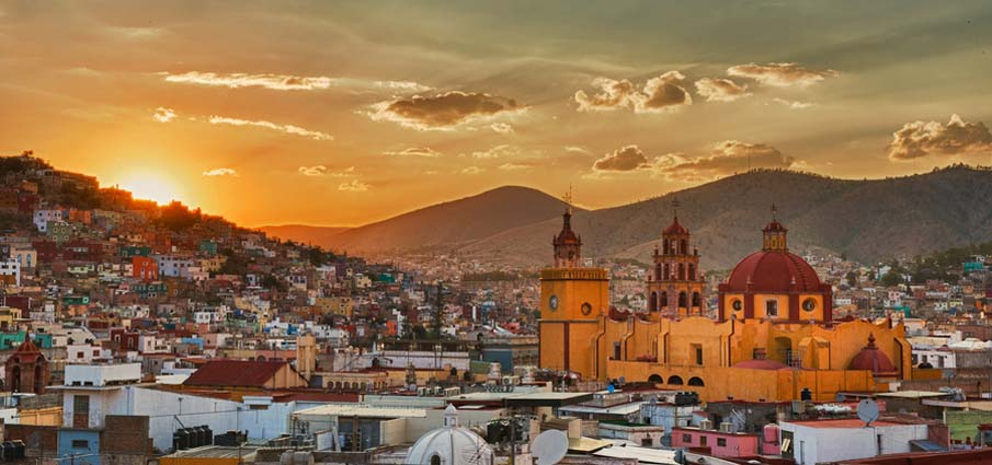Sunset in Guanajuato
