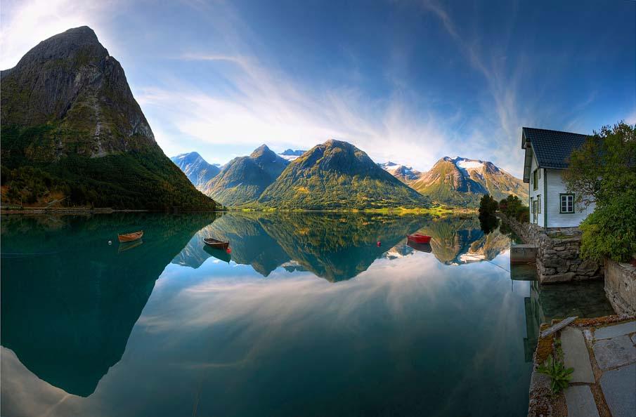 Conoce la fria belleza da Noruega. No todo es black ahi.