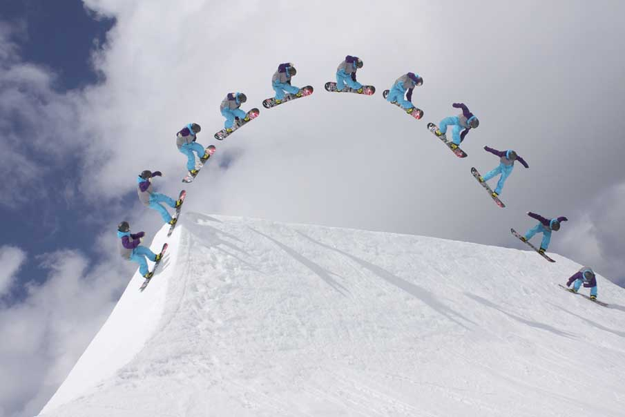 Flaine Snowboard Big Air Contest Sequence