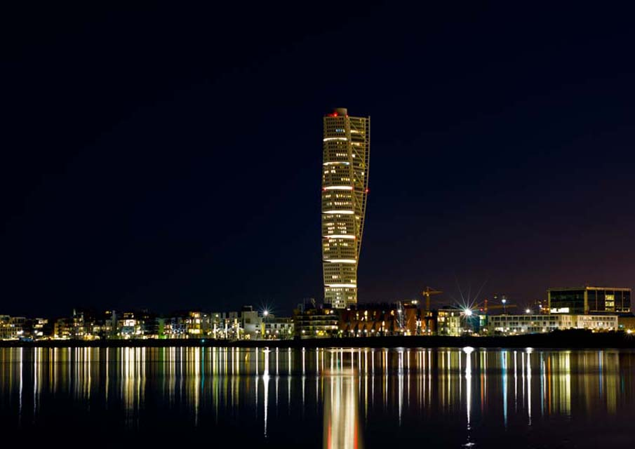 Night Turning Torso