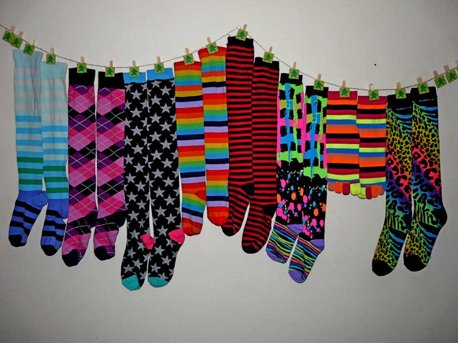 Many Socks, Many Colors, Many Patterns