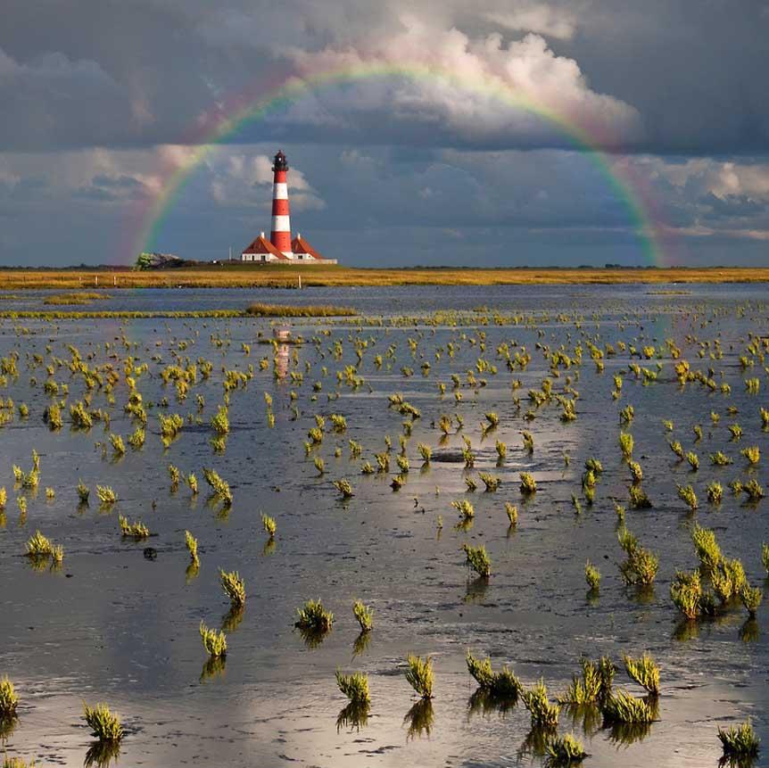 Lighthouse Meets Rainbow