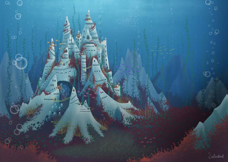 Underwater Mermaid Castle Underwater Castle