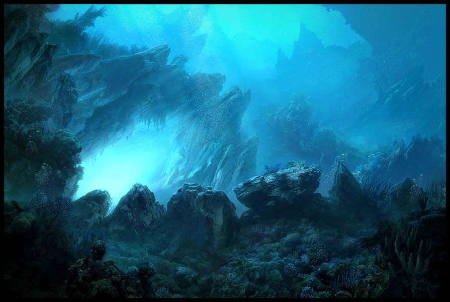 Underwater Matte Painting