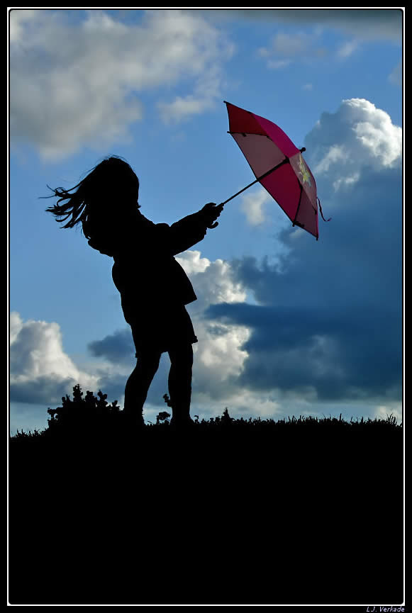 Silhouette with an Umbrella