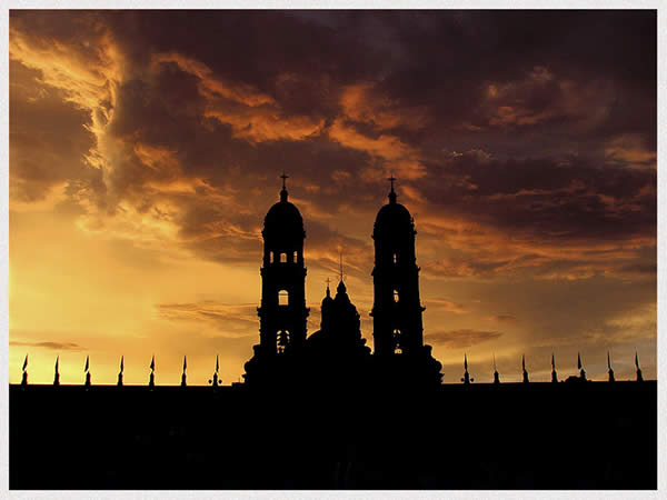 Basilica Silhouette after the Sunset