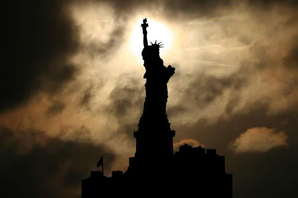 Liberty Sunset Silhouette